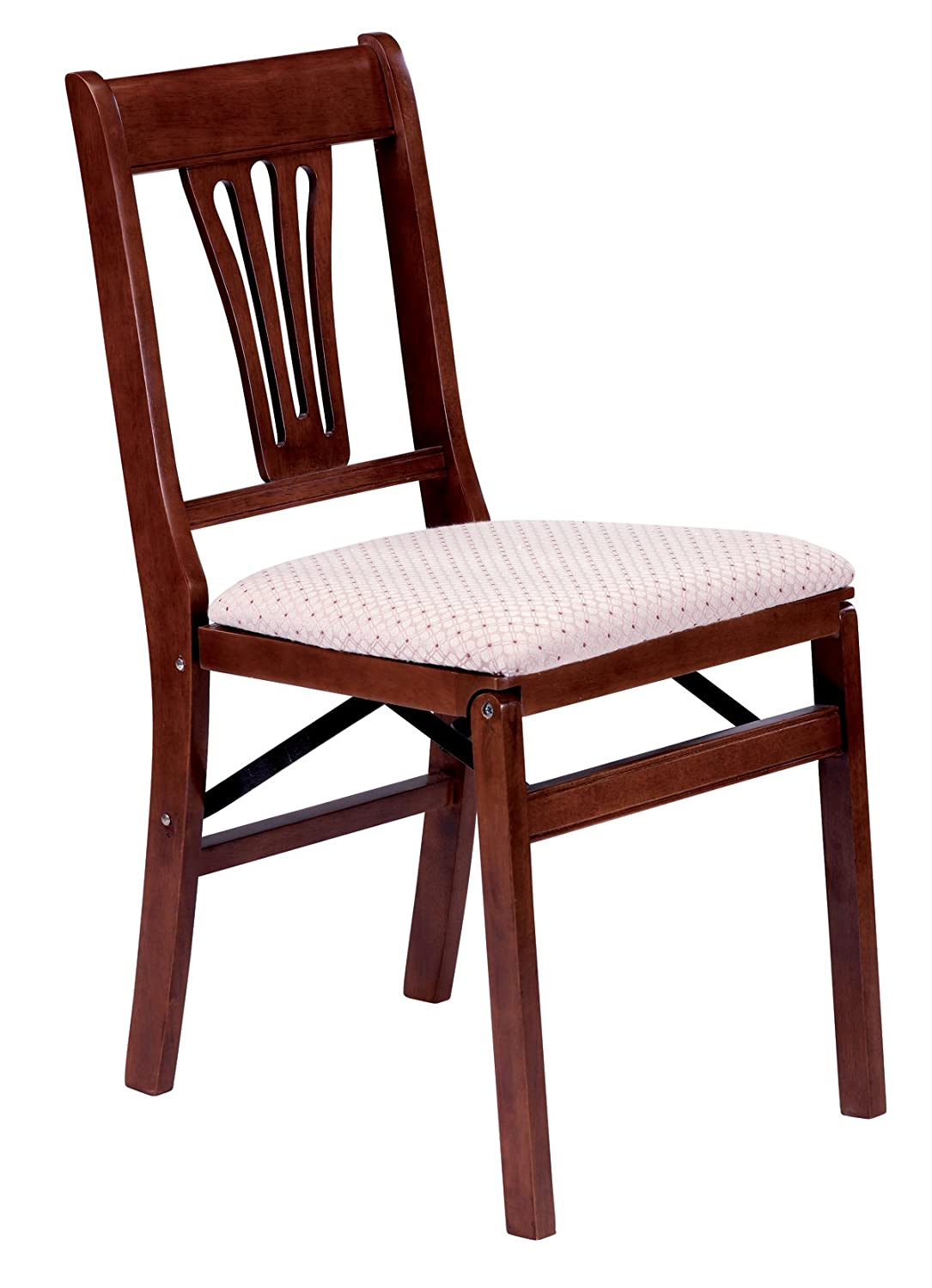 Stakmore Urn Back Folding Chair Finish, Set of 2, Cherry