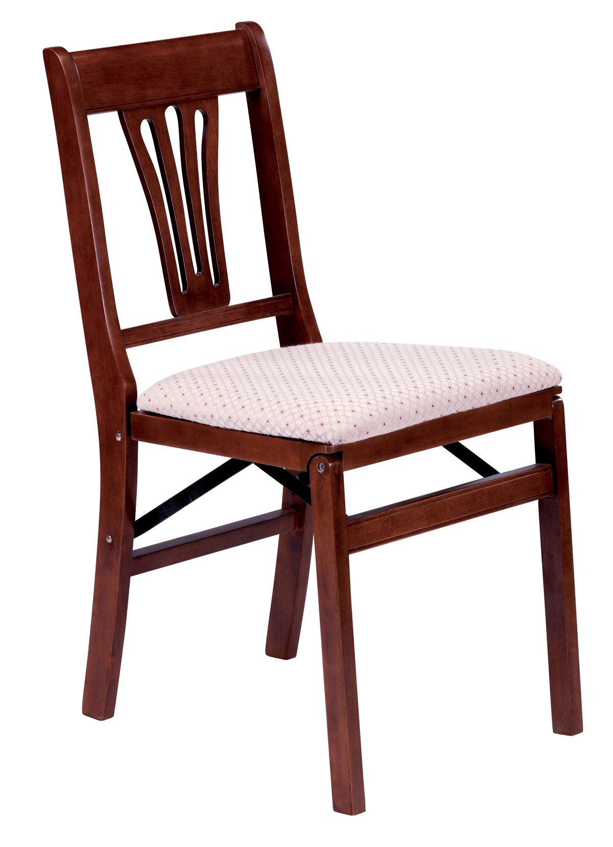 Stakmore Urn Back Folding Chair Finish, Set of 2, Cherry
