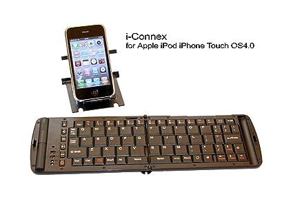 i-Connex Bluetooth Teclado para Apple: iPhone 4 G, iPad, iPod Touch 4 G 4 GS ...