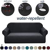 Granbest - Funda para sofá de tela supersuave y elástica, repelente al agua, Negro, Mediano