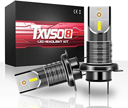 With Decoder//Canbus Fit All H7 Model TXVSO 110W H7 LED Car Headlight 12000LM Replacement Kit for Halogen Xenon Lamps 2pcs//Set 6000K White 55W//Bulb