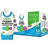 Orgain Organic Vegan Plant Based Nutritional Shake,Vanilla Bean,16g Protein,21 Vitamins & Minerals, Non Dairy, Gluten Free, L