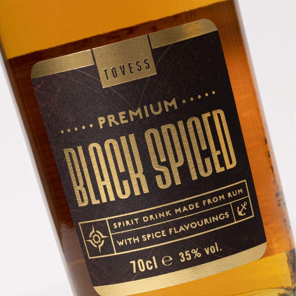 Tovess Ron negro especiado - 700 ml