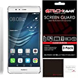 [Pack de 3] TECHGEAR Huawei P9 Film de Protection Ultra Clair pour Écran LCD avec Chiffon de Nettoyage + Carte d'Application