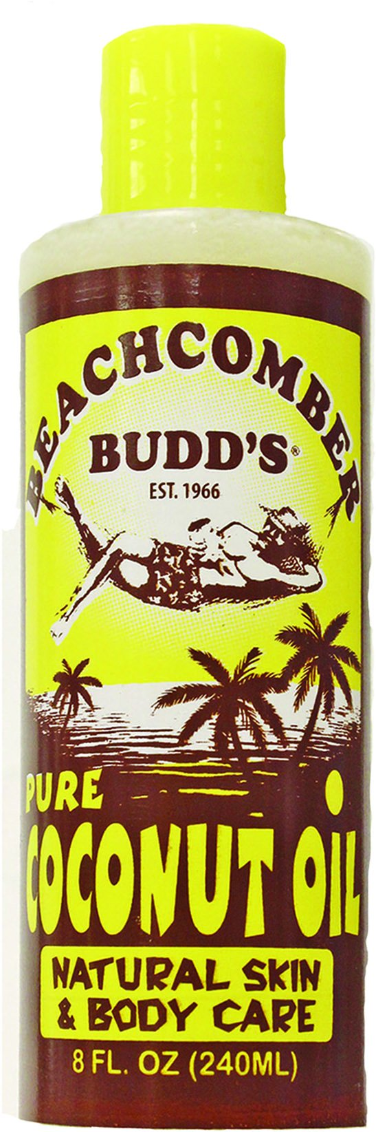 Value Pack Hawaiian Beachcomber Budd Pure Coconut Oil 8 oz. Scented 8 Bottles