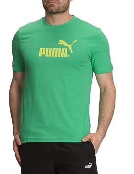 Puma – Camiseta para hombre, logo grande, algodón orgánico, primavera/verano,