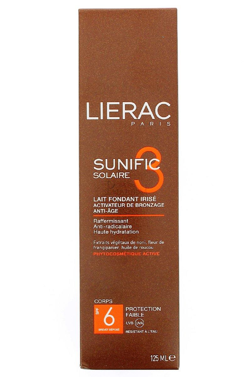 LIERAC SUNIFIC 3 SPF6 LAIT 125 Lierac Sole 3508240204211