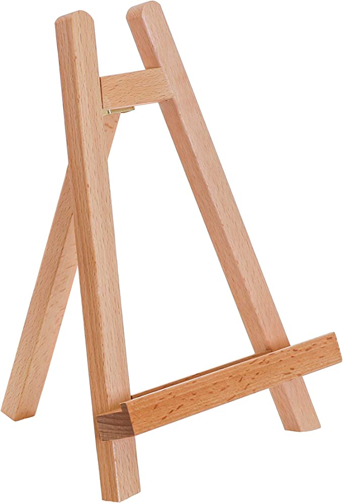Folding Easel Display Stand For Bowls and Collectibles! A Smaller Solid WOOD