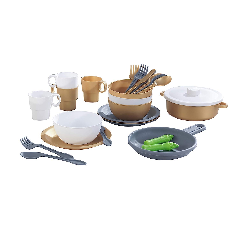 Kinderküche Garten - Spielküche Garten - KidKraft Küchenset in edlem Metallic-Look