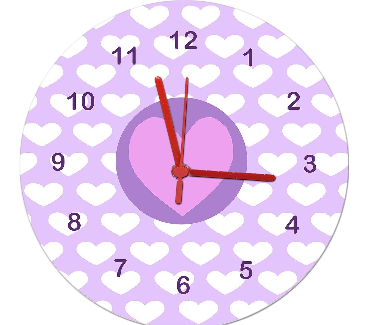 Purple heart clockgirls clockgirls wall clockrls room clock purple heart clockgirls clockgirls wall clockrls room clock amazon kitchen home amipublicfo Choice Image