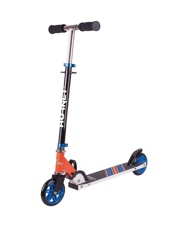 Azul//Naranja Kick de Scooter /Patinete 120 Hornet 14512/ Cubo de Roller Big Wheel Scooter
