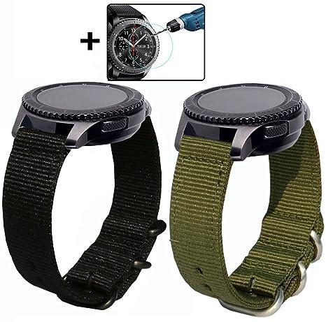 Bracelet de remplacement Otopo pour montre Gear S3 Frontier et montre connectée S3 Classic - Largeur