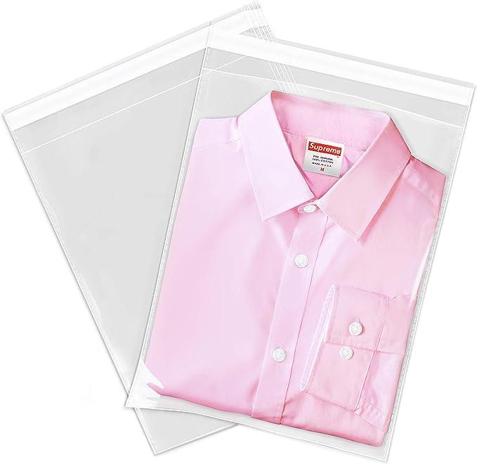 Amazon.com: Cellophane - Bolsas de celofán para ropa (100 unidades): Office Products