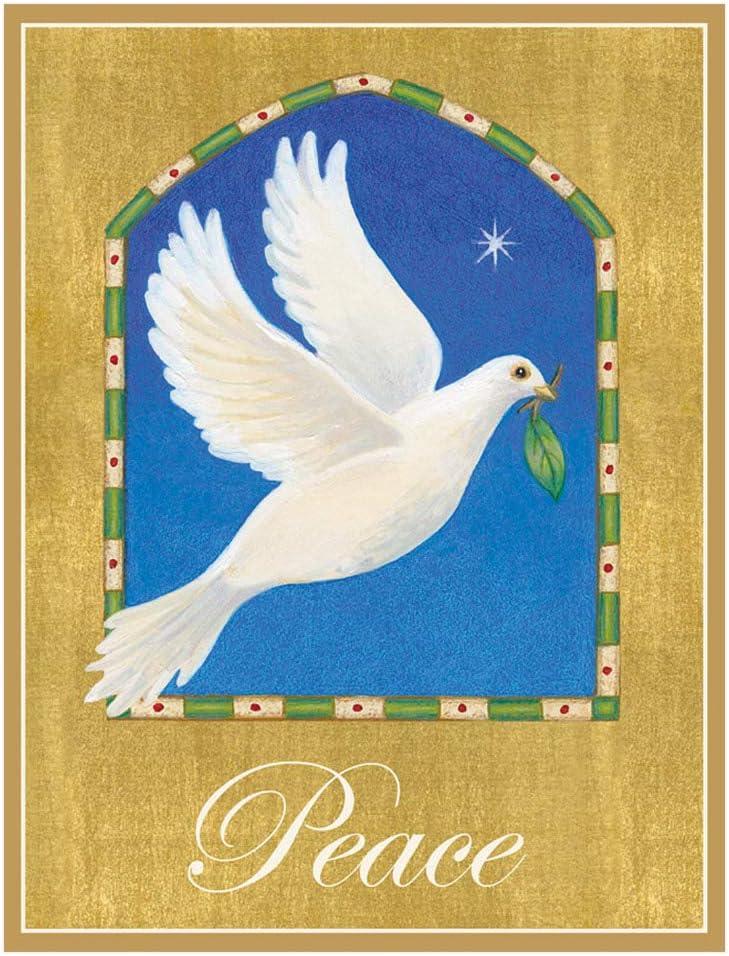 Caspari Peace Dove Boxed Christmas Cards - 16 Cards & Envelopes