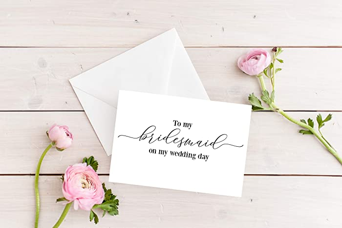 To My Bridesmaid On My Wedding Day Bridesmaid Cards Card For Bridesmaid On