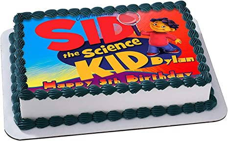 Swell Amazon Com Sid The Science Kid Edible Cake Image Personalized Funny Birthday Cards Online Inifofree Goldxyz