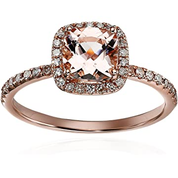 reliable Amazon Rose Gold Morganite/Diamond
