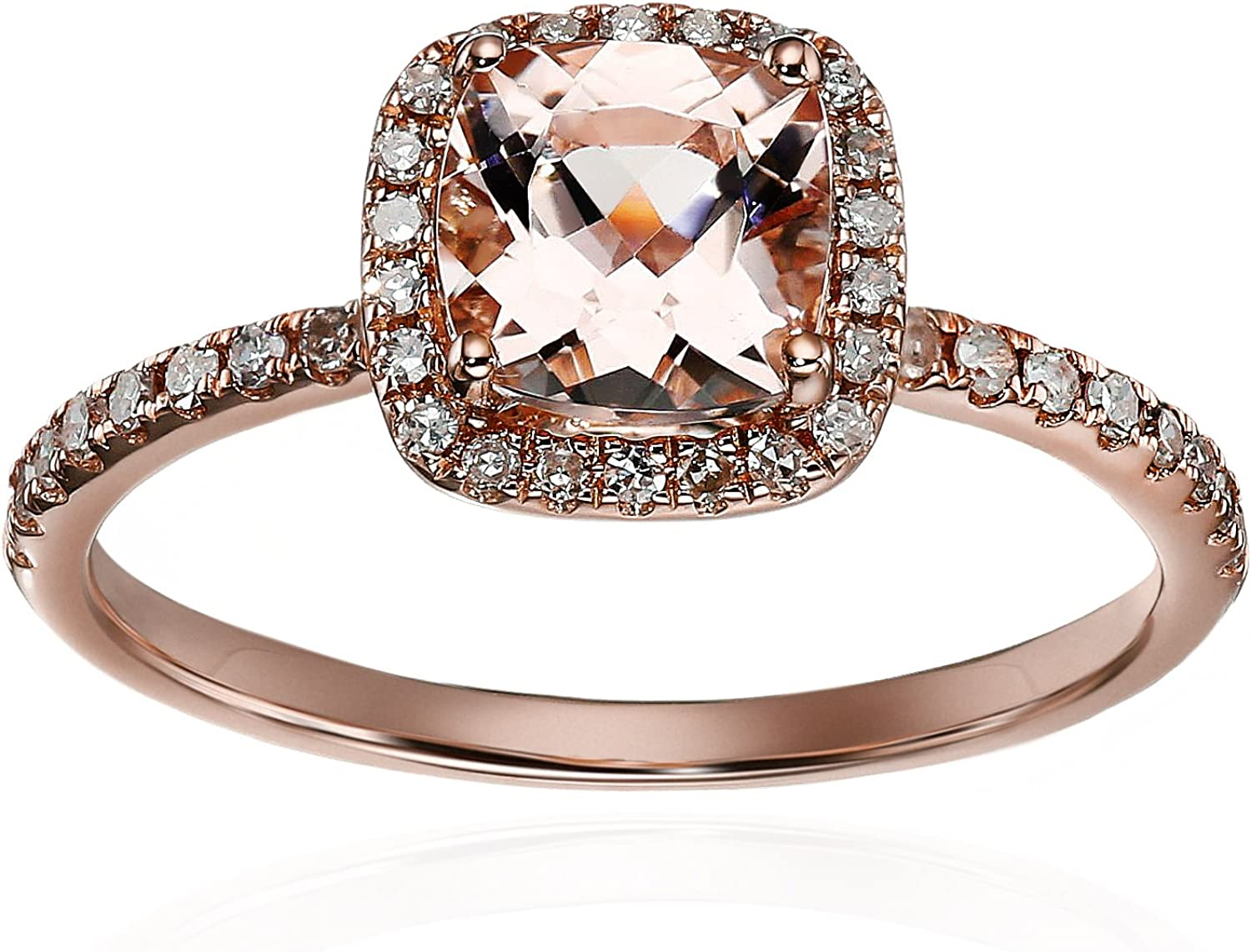 Size-6.25 G-H,I2-I3 1//20 cttw, Diamond Wedding Band in 10K Pink Gold