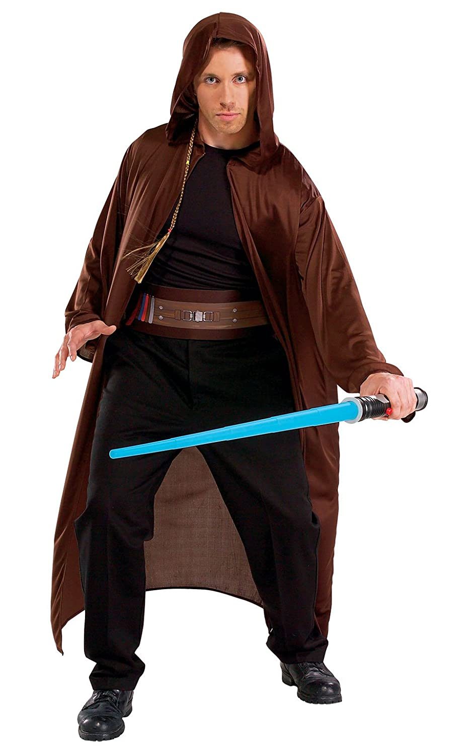 596ba0e4b8 Amazon.com: Rubie's Men's Star Wars Adult Jedi Kit, Multicolor, One Size:  Clothing