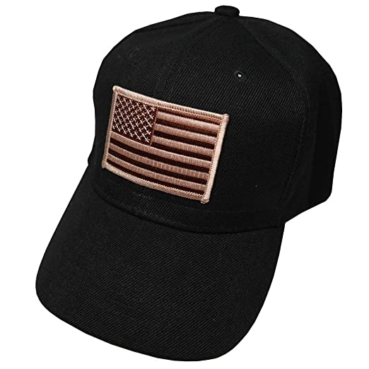 Armycrew Men s Army USA Flag Desert Patch Cap One Size Black at ... 72529992f42
