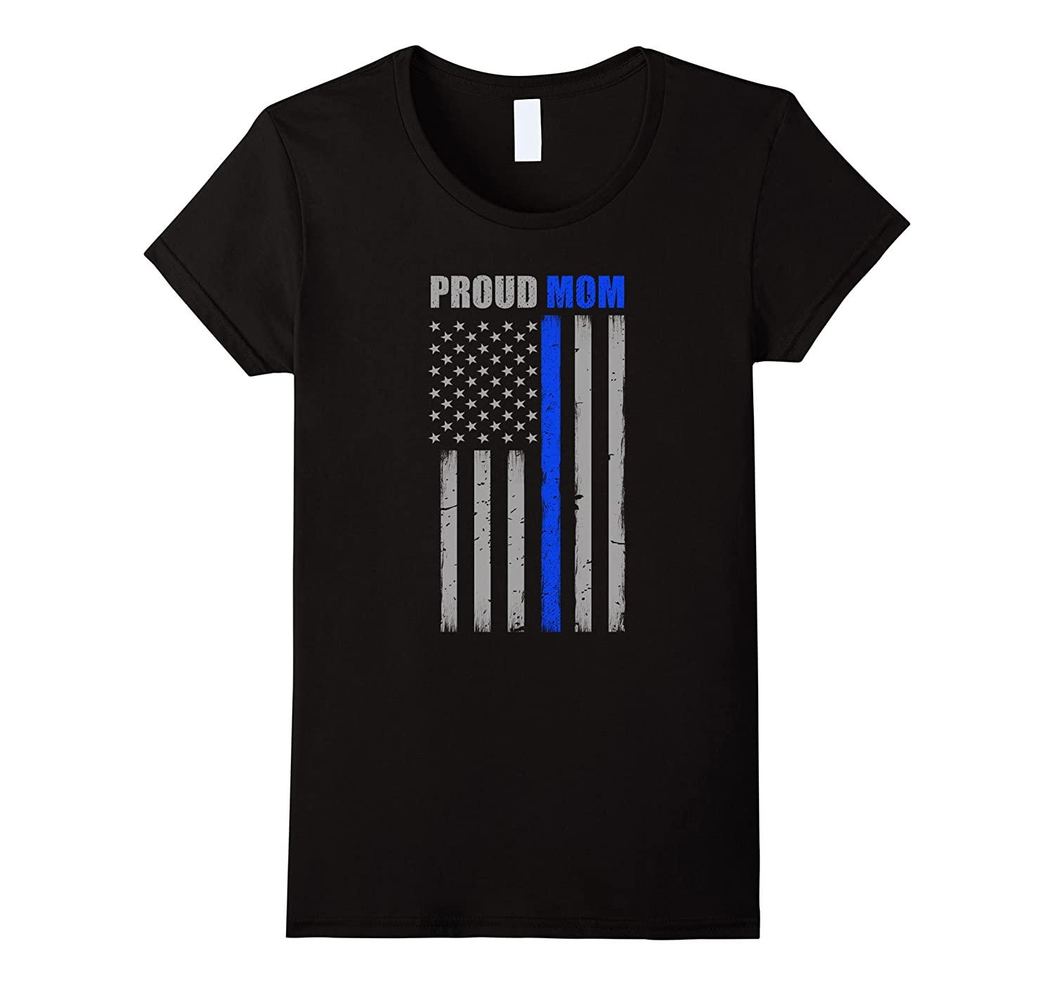 Womens Proud Mom Police T Shirt-Tovacu