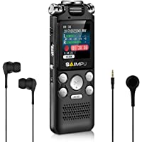 Voice Recorder - 8G Digital Voice Recorder Lectures Meetings Voice Recorder Pen, Voice Activated Recorder Long Distance Sound Audio Recorder Dictaphone Tape Recorder Recording Device MP3 Player