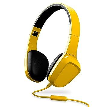 Energy Sistem Headphones 1 - Auriculares con micrófono (Control reproducción, Entrada por Cable, Diadema Extensible, rotación de 10 Grados) Color Amarillo: ...