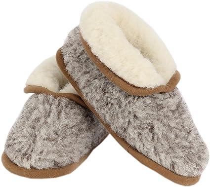Bambini Casa Scarpe Pantofole Pantofole IN Lana Merino