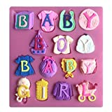 Rurah Baby Shower Silicone Letter Baby Clothes