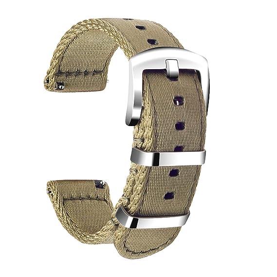 Ullchro Nylon Correa Reloj Calidad Alta Correa Relojes Militar del ejército - 18mm, 20mm, 22mm, 24mm Correa Reloj con Hebilla de Acero Inoxidable