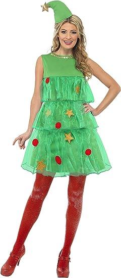 SmiffyS 24331M Disfraz De Árbol De Navidad Con Vestido Y Gorro ...