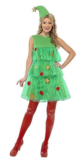 Smiffys Smiffys-24331S Disfraz de árbol de Navidad, con vestido y ...