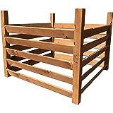 Compostador de madera (medidas: 100 x 100 x 80 cm, capacidad ...