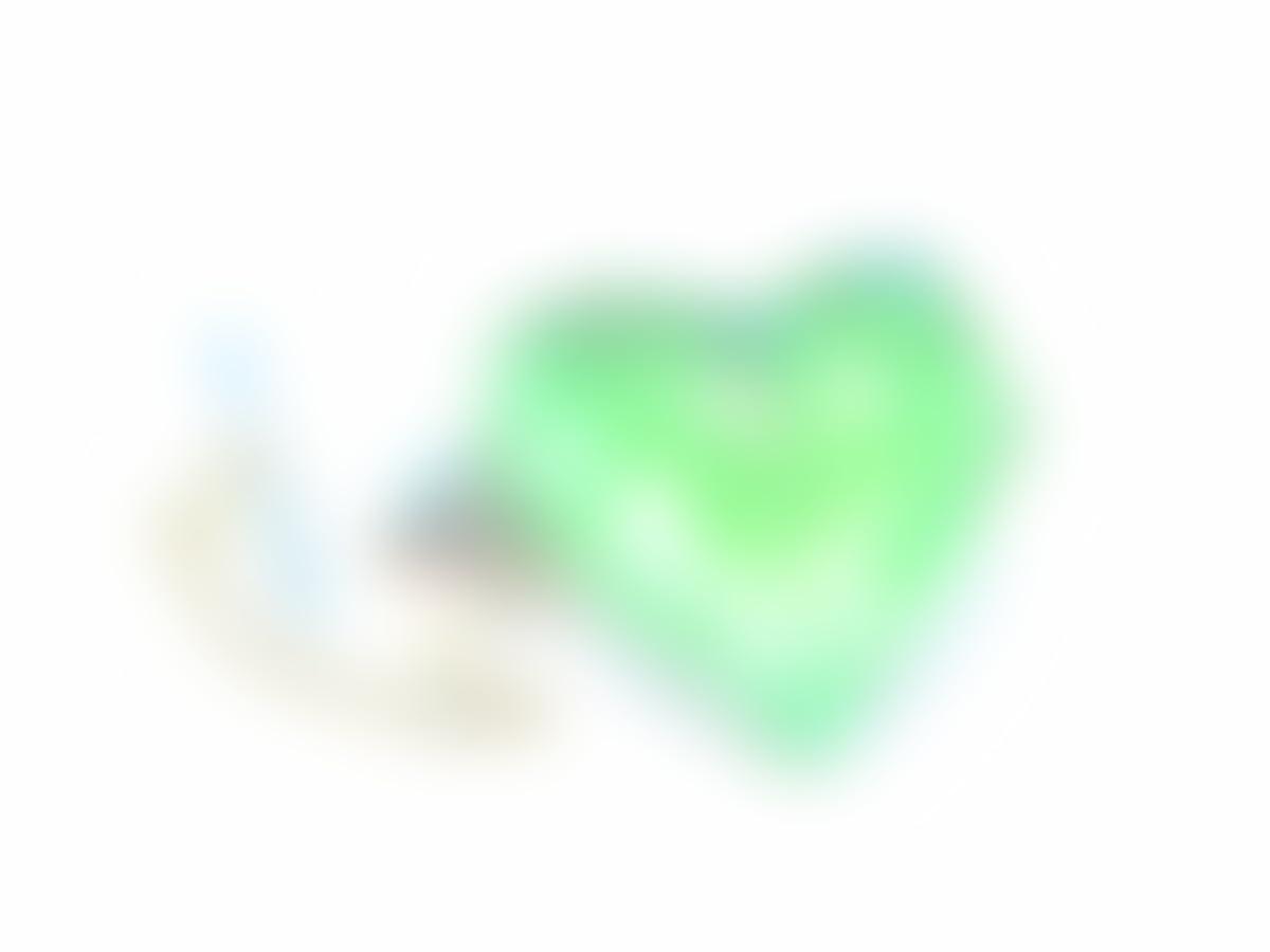 1fe62d80002a Amazon.com: Heart Stone Tie Tack - Green Kryptonite: Handmade