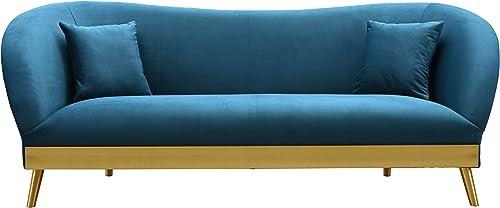 TOV Furniture The Chloe Collection Modern Velvet Upholstered Living Room Sofa