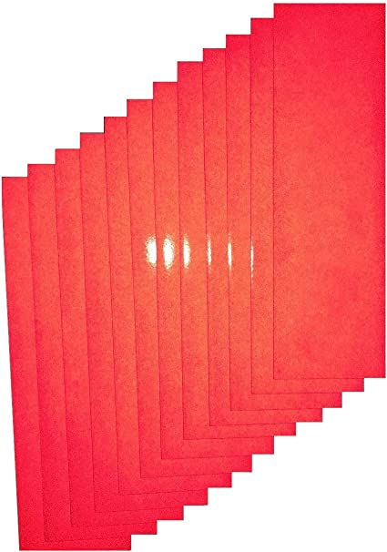 3M Iron-On Scotchlite Reflective Safety Strips Red Made in USA
