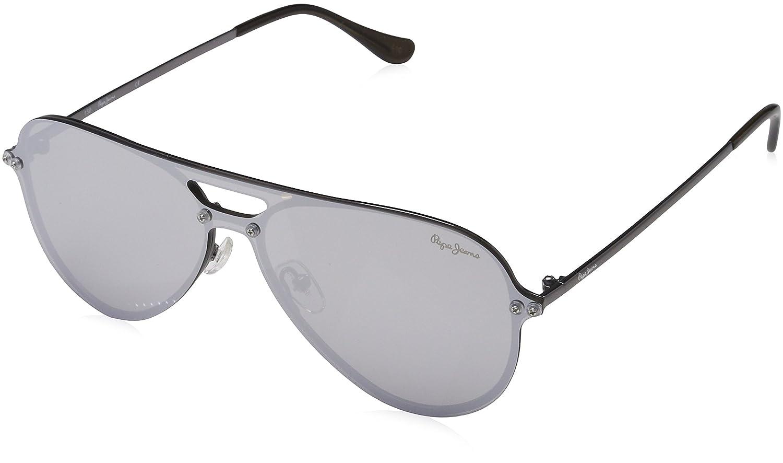Pepe Jeans Sunglasses Briggs, Gafas de sol para Hombre, Plateado (Gunmetal) 143