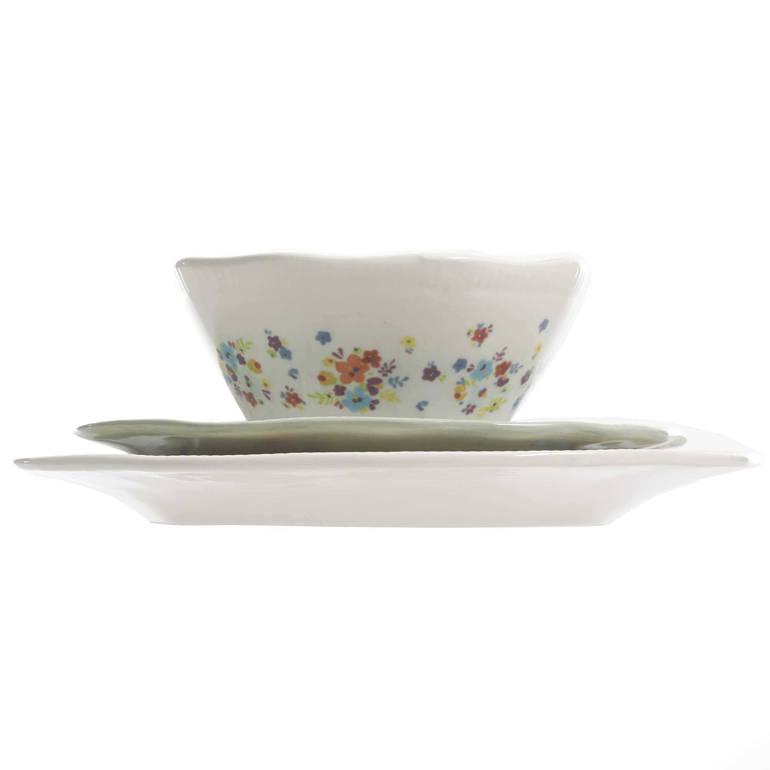 Urban Market by Gibson 99869.12RM Life on the Farm 12pc dinnerware set, Blue/White by Urban Market by Gibson (Image #6)