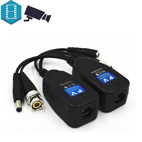 coscod alta definición transmisor HD-CVI/TVI/AHD pasiva Video Balun con conector