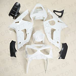 HTTMT K0603- Fairing Compatible with Kawasaki Ninja ZX6R ZX-6R 636 03 04 2003 2004 Injection ABS Unpainte