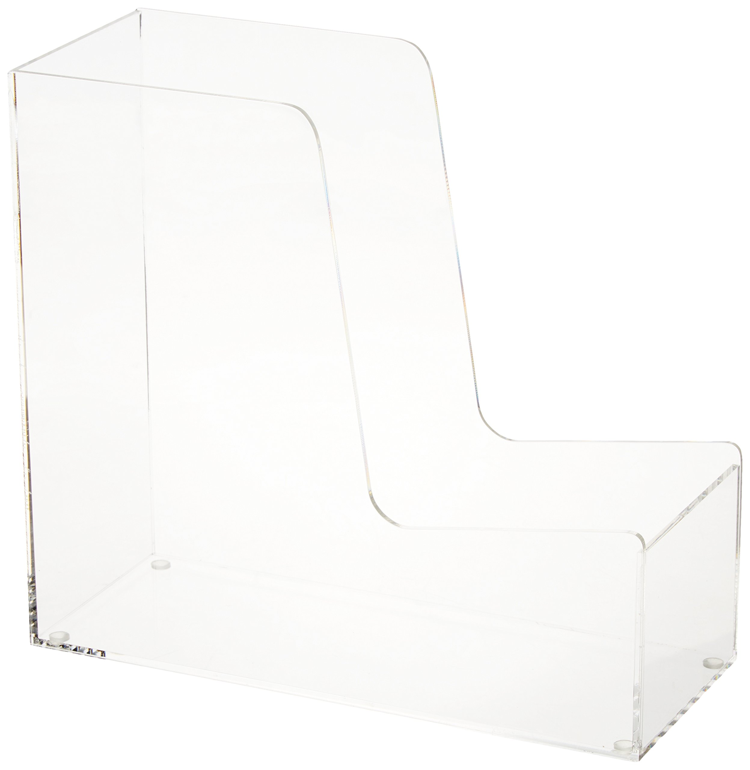 HCD Refined by Honey-Can-Do OFC-06389 Magazine Holder, 10.2L x 4.2W x 9.3H