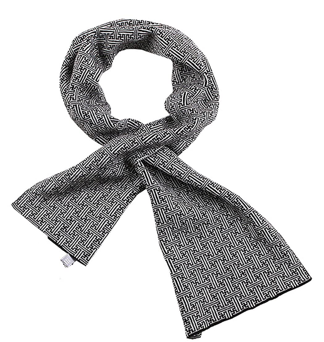 MT-Pste Men's Stylish Short Smart Winter Sports Casual Neck Knit Wrap Scarf