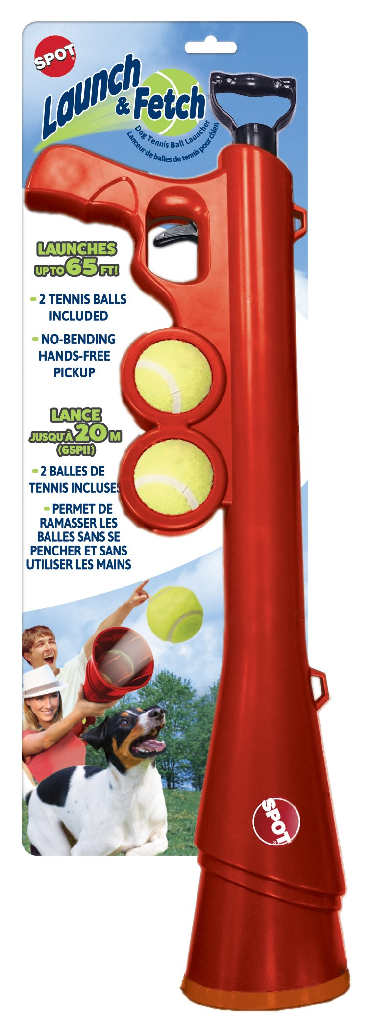 Ethical Pets 54299 Spot Launch & Fetch Tennis Ball Launcher Interactive Dog Toy, 24''