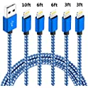 5-Pack Firsting MFi-Certified Braided iPhone Lightning Cable