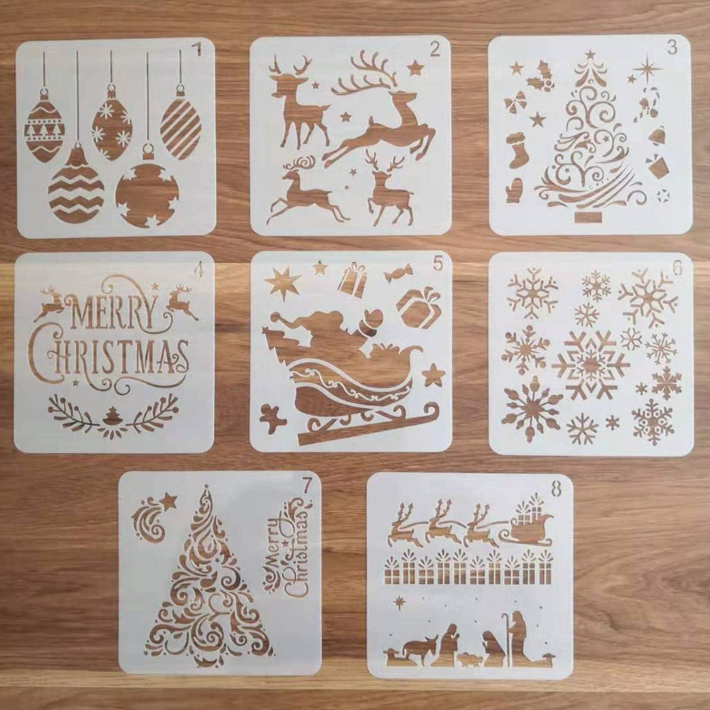 Christmas 3 Three Kings Stencil Party Card Decoration Xmas Snow Spray MDF #8