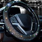 Capa de volante ValleyComfy para mulheres com diamante de cristal cintilante brilhante para carro SUV protetor de roda ajuste