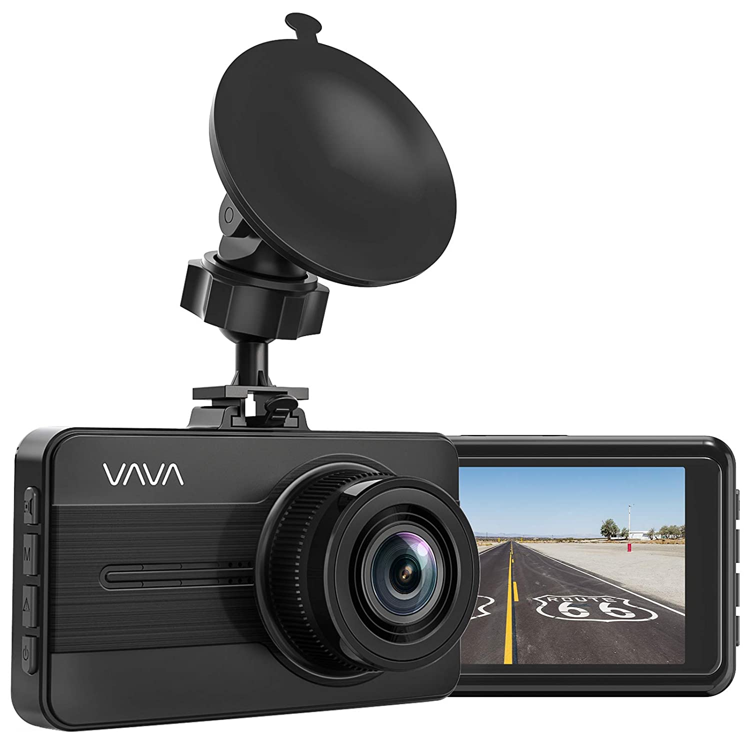 "Dash cam, VAVA 1080P FHD Car Dash Camera with 3"" LCD Screen 170° Wide Angle, Super Night Vision, Parking Mode, WDR, G-Sensor, Loop Recording"