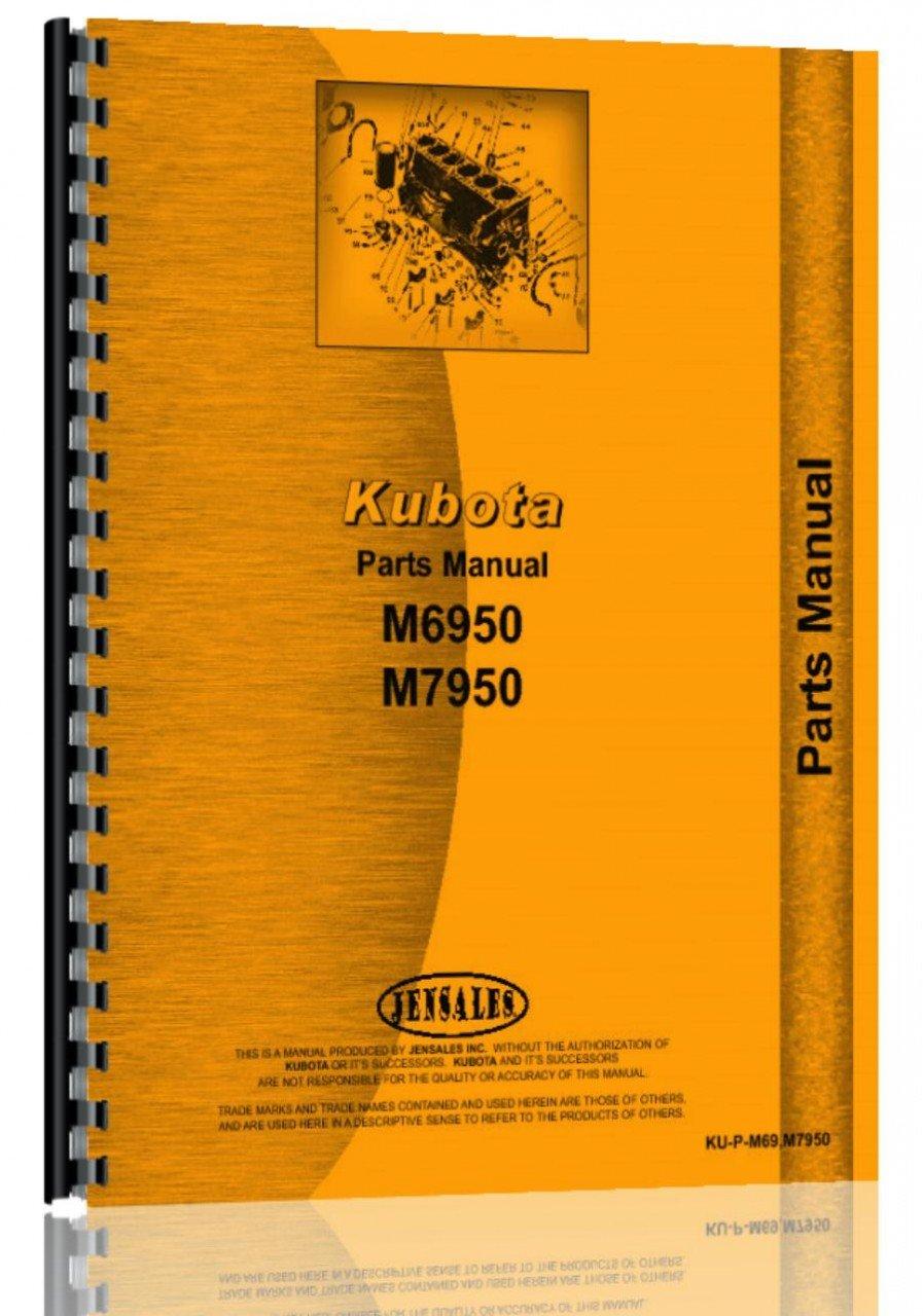 kubota kubota m6950 pts parts manual kubota manuals 0739718106567 rh amazon com Parts List Heavy Equipment Manuals