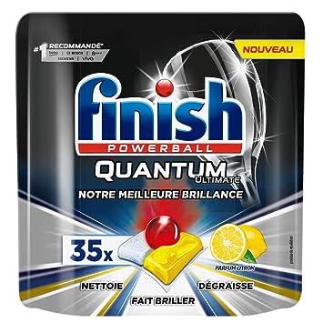 Finish Ultimate Quantum - Limpiador para lavavajillas (35 ...