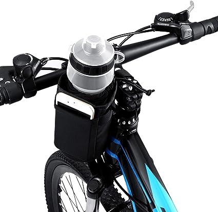 Amazon Com Vltawa Bike Water Bottle Holder Bag 32oz Bicycle Water Bottle Cage No Screws Waterproof Insulation Secured Drink Cup Holder With Storage Pocket Suit For Bike Stroller Scooter Wheelchair Backpack Sports